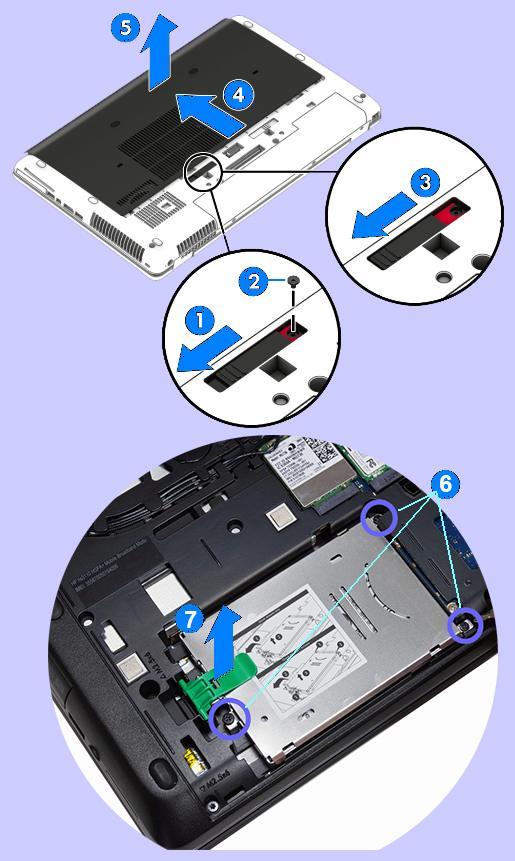 remove hp laptop hard drive