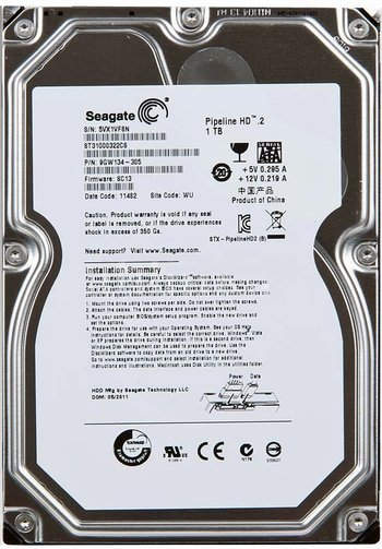 Data Recovery For Seagate Pipeline HD.2 ST1000322CS 1Tb