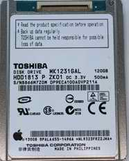 Data Recovery For Toshiba 1.8-inch MK PATA MK8031GAL HDD1814 80G