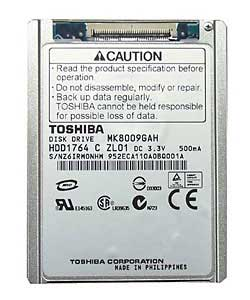 Data Recovery For Toshiba 1.8-inch MK ZIF Connector MK8009GAH 80G