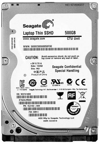 Data Recovery For Seagate Laptop SSHD SATA ST500LM000 500G