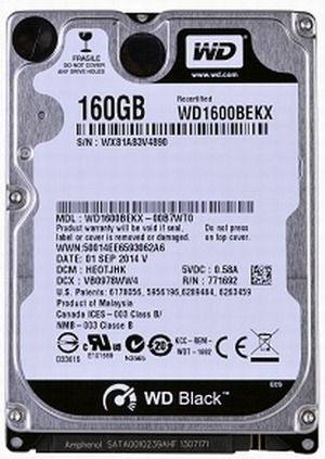 Data Recovery For Western Digital WD1600BEKX 160G