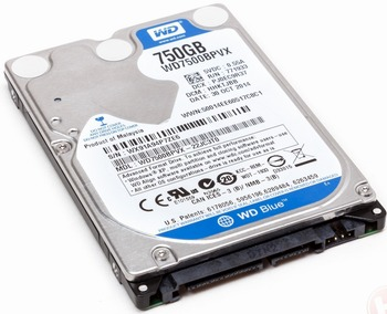 Data Recovery For Western Digital WD7500BPVX 750G
