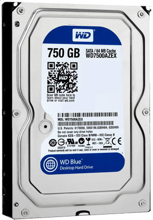 WD7500AZEX - WD Blue, 750 Gb Hard Disk Recovery
